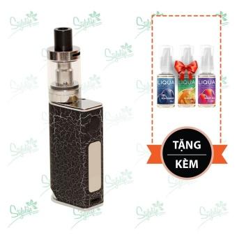 Bộ sản phẩm thuốc lá điện tử (vape) Ovancl P9 (Black) tặng 3 lọ tinh dầu New Liqua 10ml vị Quả mâm xôi, Trà đen, Dâu trộn