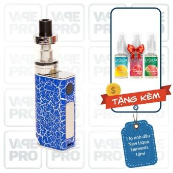 Bộ sản phẩm thuốc lá điện tử (vape) Ovancl P9 (Blue) tặng 3 lọ tinh dầu New Liqua 10ml vị Dứa, Dâu, Dưa hấu