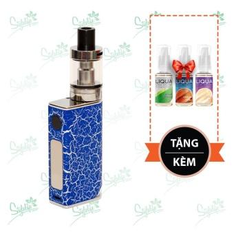 Bộ sản phẩm thuốc lá điện tử (vape) Ovancl P9 (Blue) tặng 3 lọ tinh dầu New Liqua 10ml vị Thuốc lá nhẹ, Caramel, Kem sữa