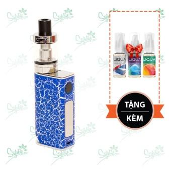 Bộ sản phẩm thuốc lá điện tử (vape) Ovancl P9 (Blue) tặng 3 lọ tinh dầu New Liqua 10ml vị Xì gà Cuba, Bạc hà, Đào