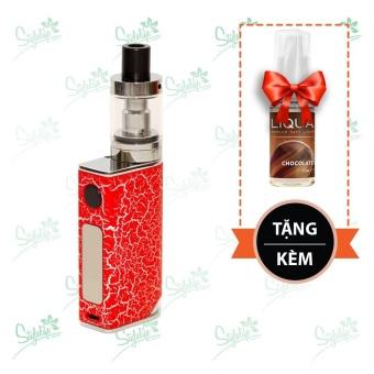 Bộ sản phẩm thuốc lá điện tử (vape) Ovancl P9 (Red) tặng 1 lọ tinh dầu New Liqua 10ml vị Chocolate