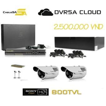 Bộ SMART DVR5A 4CH FULL HD - 2 CAMERA BT01i