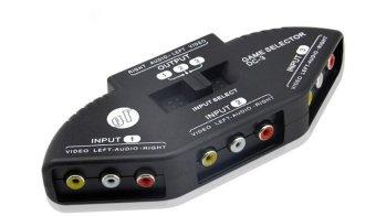 Bộ Switch âm thanh hình ảnh 3 in 1 out (Đen)
