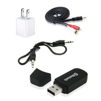Bộ thiết bị USB kết nối bluetooth điện thoại với loa, amply Wireless HS01 (đen)