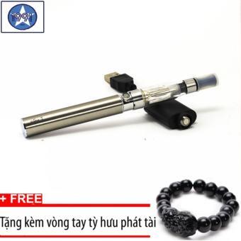 Bộ thuốc lá điện tử shisha eGO-T Silver cao cấp+Tặng kèm vòng taytỳ hưu đen
