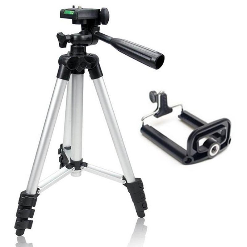 Bộ Tripod mini 3 chân cho điện thoại và máy tính bảng, máy ảnh du lịch (Xám bạc)