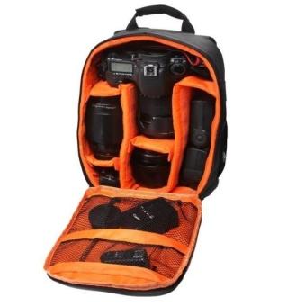 Camera Bag Backpack Waterproof DSLR Case with CarabinerforCanonOrange - intl