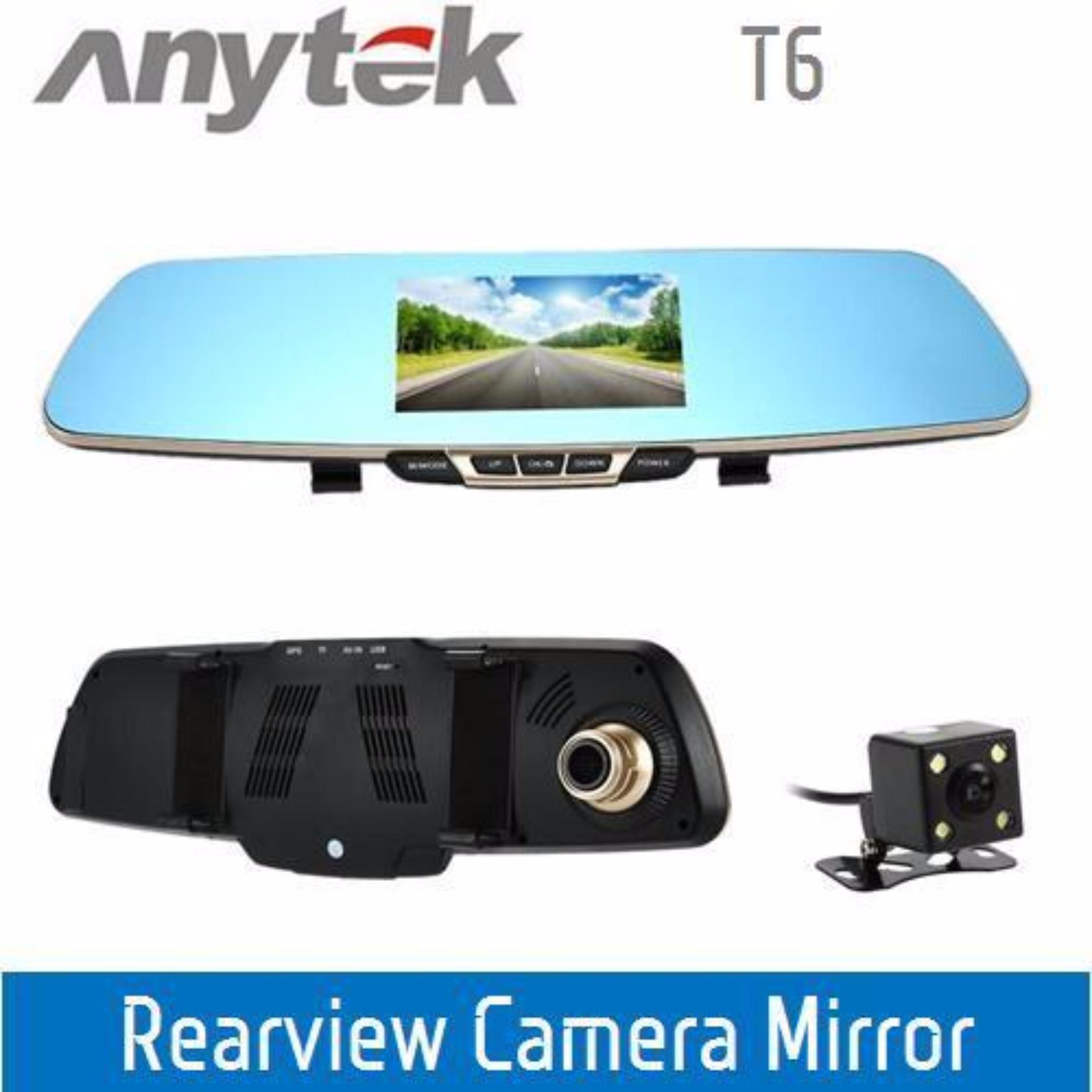 Camera hành trình gương Anytek T6 Dual