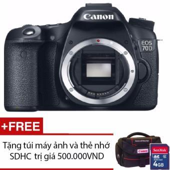 Canon EOS 70D 20.2MP Body WiFi + Tặng 1 túi đựng máy ảnh và 1 thẻ nhớ- Hãng phân phối chính thức