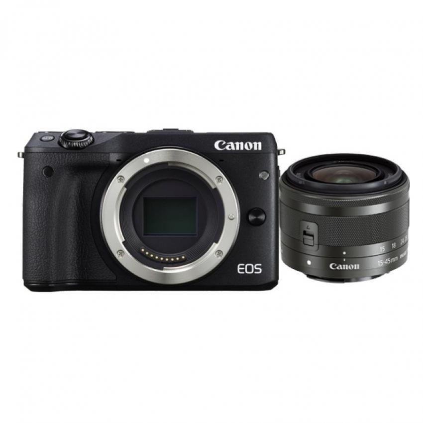 Canon EOS M3 24.2MP với Lens kit 15-45mm IS STM (Đen) - Hãng Phân phối chính thức