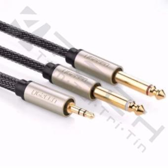 Cáp Audio 3,5mm to 2 đầu 6,5mm dài 0.5m chính hãng Ugreen 10612 mạvàng cao cấp - 8800872 , UG244ELAA308QIVNAMZ-5219151 , 224_UG244ELAA308QIVNAMZ-5219151 , 348400 , Cap-Audio-35mm-to-2-dau-65mm-dai-0.5m-chinh-hang-Ugreen-10612-mavang-cao-cap-224_UG244ELAA308QIVNAMZ-5219151 , lazada.vn , Cáp Audio 3,5mm to 2 đầu 6,5mm dài 0.5m chín