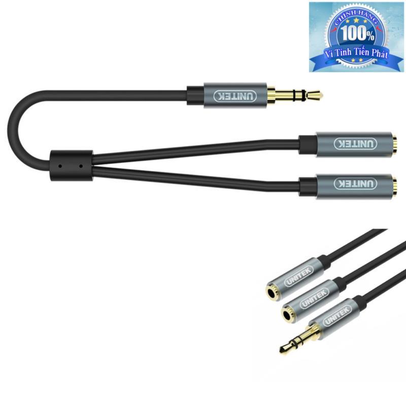 Bảng giá Cáp chia 1 ra 2 cổng Audio 3.5mm Unitek Y-C956ABK Phong Vũ