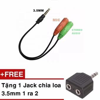 Cáp chia Audio 3.5 ra Mic và Loa tặng kèm 1 Jack loa 3.5 1 ra 2 - 10264319 , NO007ELAA1XCFBVNAMZ-3268560 , 224_NO007ELAA1XCFBVNAMZ-3268560 , 79000 , Cap-chia-Audio-3.5-ra-Mic-va-Loa-tang-kem-1-Jack-loa-3.5-1-ra-2-224_NO007ELAA1XCFBVNAMZ-3268560 , lazada.vn , Cáp chia Audio 3.5 ra Mic và Loa tặng kèm 1 Jack loa 3.5