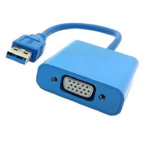 Cáp chuyển đổi tín hiệu USB sang VGA (Xanh)