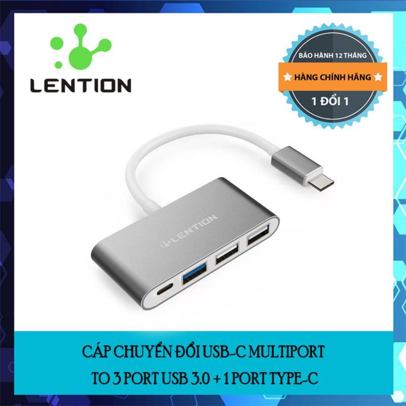 Bảng giá Cáp chuyển đổi USB-C Multiport to 3 port USB 3.0 + 1 port type-C chính hãng Lention Phong Vũ