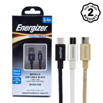 Cáp Dù Micro USB Energizer Metallic 1.2m