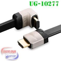 Báo Giá Cáp HDMI 1M dẹt nghiêng góc 90 độ chính hãng Ugreen 10277 hỗ trợ 3D 4K