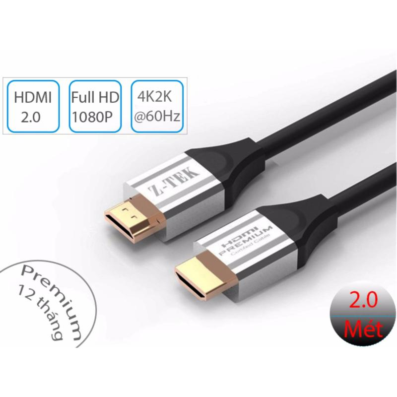 Bảng giá Cáp HDMI 2.0 tốc độ cao 18Gbps 4K@60Hz (4096*2160P) Z-TEK 2 mét ZC-293 Phong Vũ