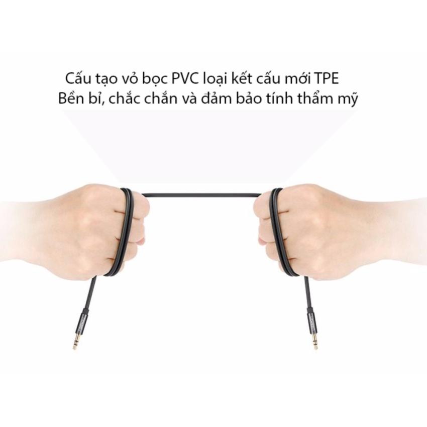 Cáp loa 2 đầu 3.5mm (AUX) loại ngắn, dây tròn 2 mét UGREEN 10735 (màu đen)