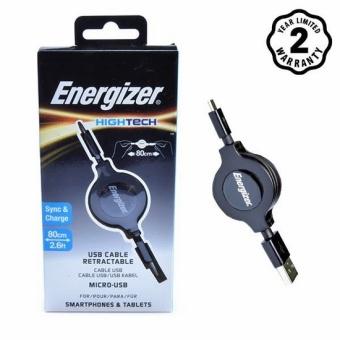 Cáp Micro USB 80cm Energizer Dây rút Đen C31UBRETEBK4
