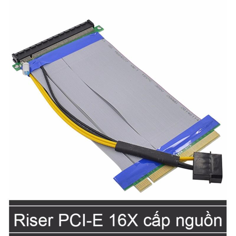 Bảng giá Cáp Reser nối dài khe PCI-E 16X (Cáp nối dài khe cắm Card màn hình) hỗ trợ cấp nguồn bổ xung - 20Cm Phong Vũ