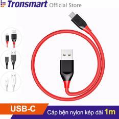 Cáp sạc bọc nylon TRONSMART ATC USB-C to USB 2.0 dài 1m