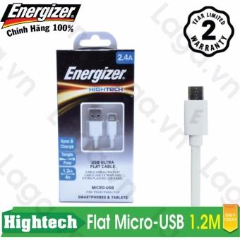 Cáp sạc cao cấp Energizer Flat Micro-USB dẹp 1.2m - C21UBMCG