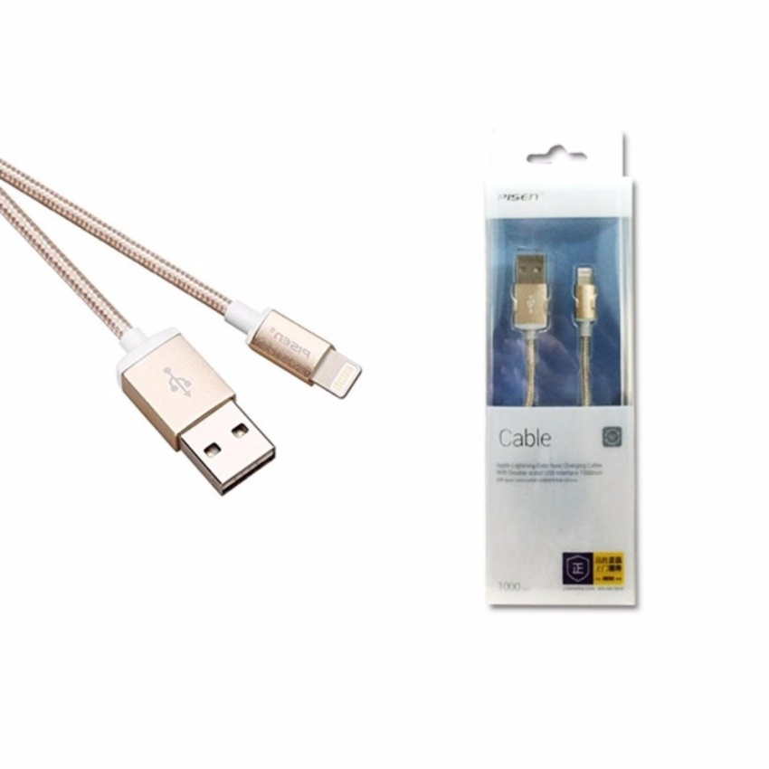 Hình ảnh Cáp sạc Pisen AL06-1000 1M cho điện thoại Iphone - dây dù cổng Lightning