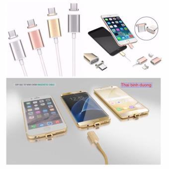 Cáp Sạc Từ Hít Nam Châm 2 in 1 cho Samsung Và Iphone