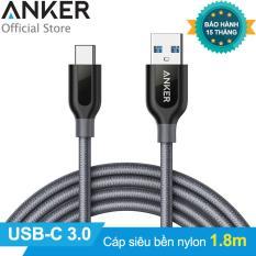 Cáp siêu bền Type C ANKER PowerLine+ USB-C ra USB 3.0 dài 1.8m (Xám)
