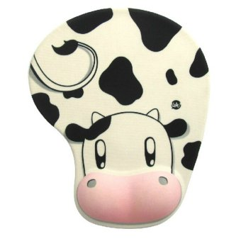 Cartoon Dairy Cow Pattern Silicone Comfort Wrist Rest Support MatMouse Pad