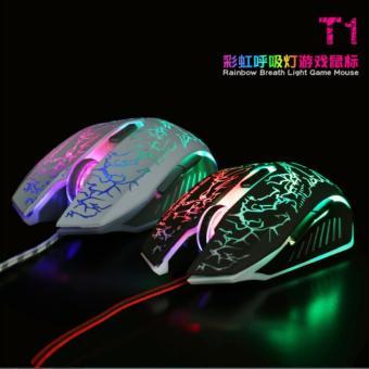 Chuột 6D chuyên Game NTC T1 Led đa màu - DPI 2400 (Đen)