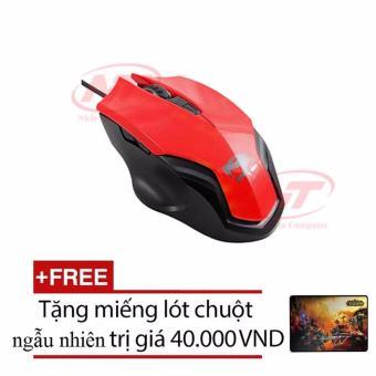 Chuột Có Dây Ensoho GL235 (Đỏ) + Tặng kèm lót chuột