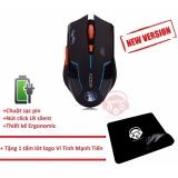 Chuột không dây dùng pin sạc AZZOR phiên bản mới + Tặng Mousepad Vi Tính Mạnh Tiến