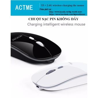 Chuột không dây sạc pin Actme T5 (Màu Xanh) - 3
