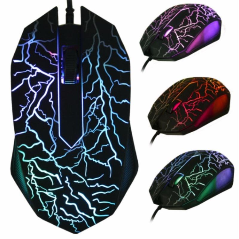 Chuột quang chuyên Game E7 đèn led nhiều màu đẹp mắt