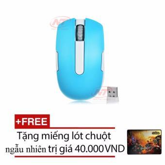 Chuột quang không dây ENSOHO G12 (Xanh) + Tặng kèm lót chuột