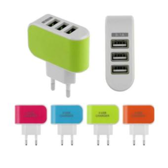 Cóc sạc 3 cổng USB cao cấp PGH-002 (Xanh lá)