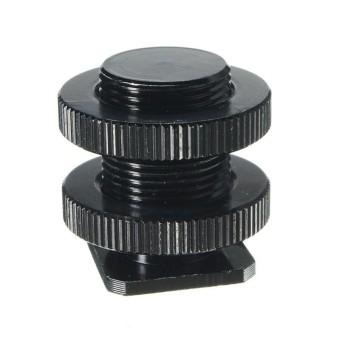 Cold Hot Shoe Adapter 5/8'' 1/4'' Screw Camera XLR Microphone Mic Mount Bracket - intl