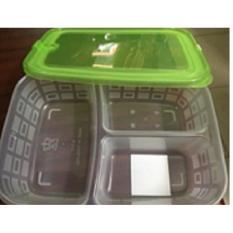 Combo 2 Hộp thực phẩm 3 ngăn 900ml F.K A117 (Thailand) giá rẻ nhất