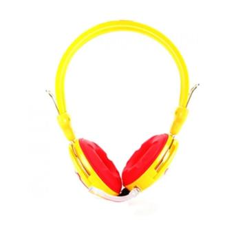 Combo bộ 5 tai nghe trâu vàng v2k chụp tai có mic (màu vàng)
