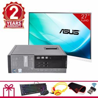 Combo Máy tính đồng bộ DELL OPTIPLEX 7010 SFF + Màn hình Asus 27inch Full Viền (G2030, Ram 8GB, HDD 2TB) + Quà Tặng - Hàng Nhập Khẩu