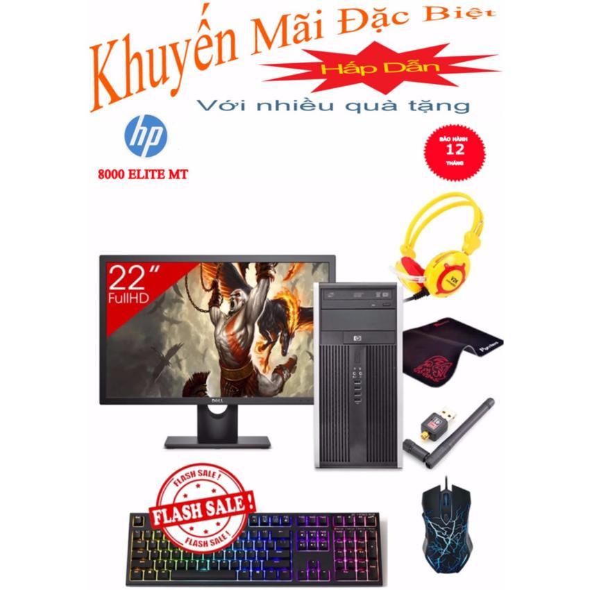 Hình ảnh Combo Máy tính văn phòng HP 8000 Elite MT + Màn hình Dell 22inch Full HD (Core 2 Duo E8500, Ram 8GB, SSD 240GB, HDD 1TB) + Quà Tặng - Hàng Nhập Khẩu