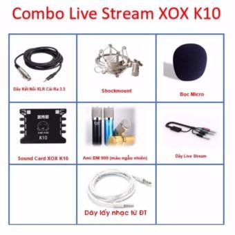 Combo Mic Thu Âm Ami BM900 Và XOX K10 + Dây live stream U1