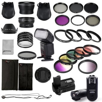 Complete Accessory Kit 100% Genuine Real Yongnuo Flash + Trigger +Battery Grip + Filter for Canon 1100D 1200D LF698 - intl