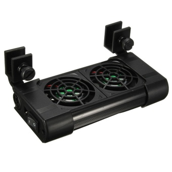 Computers Laptops Cpu Fans Heatsinks New Cooling Coldwind Twin Two 2 Fans Aquarium Chillers For Fish Tank 80L Dv 12V - intl