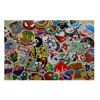 Computers Laptops Skin Decal Stickers 100Pcs Random Vinyl Decal Graffiti Sticker Bomb Laptop Waterproof Stickers - intl