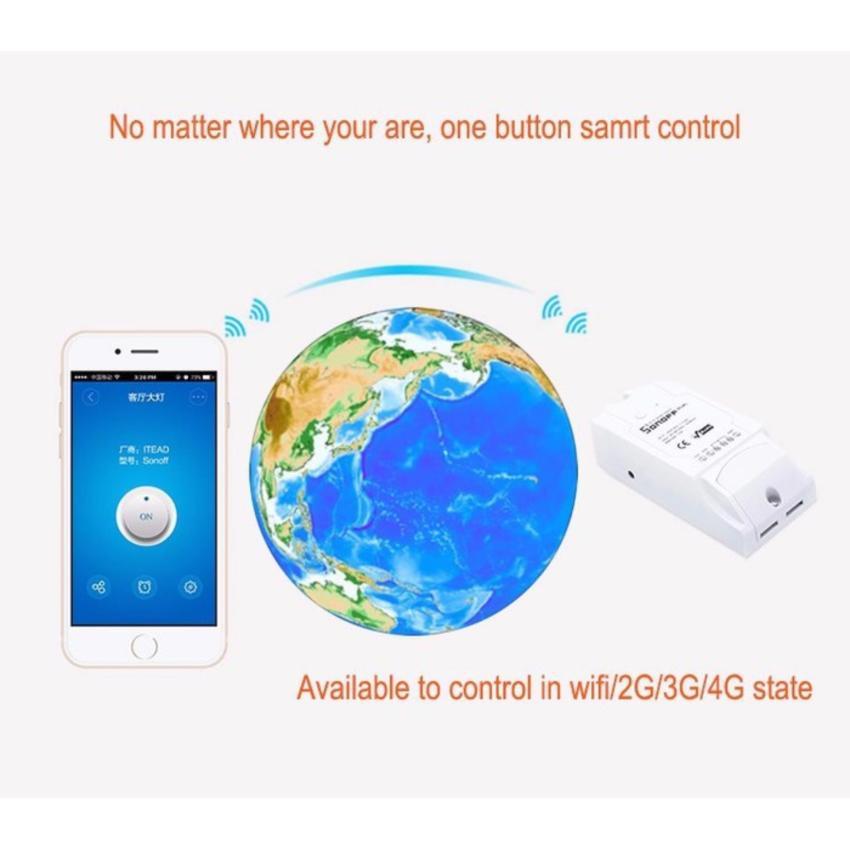 Công tắc điều khiển 2 kênh bật tắt và hẹn giờ thiết bị qua Ứng Dụng điện thoại 3G Wifi...