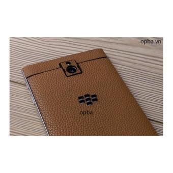 Dán Da IONE Blackberry Passport 100% Da Bò Màu Vàng Bò Hành 1 Năm - 4