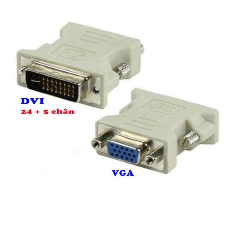 Bảng giá Đầu chuyển DVI chuẩn 24 + 5 chân sang VGA mã DTV02 Phong Vũ